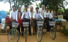 Students received bikes