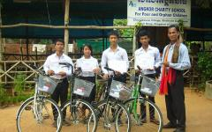 Bicycles for students at ACO